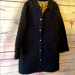 LL BEAN quilted long jacket size large
